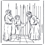 Раскраски по Библии - 12 летний Иисус