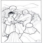 Раскраски по Библии - 5 хлебов и 2 рыбы 3