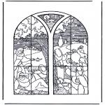 Раскраски по Библии - 5 умных и 5 глупых дев