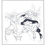 Персонажи комиксов - Аладдин и фейерверк