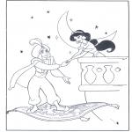 Персонажи комиксов - Аладдин на ковре-самолете