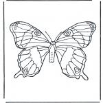 Раскраски с животными - Бабочка 1