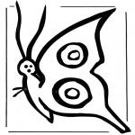 Раскраски с животными - Бабочка 2