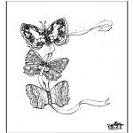 Раскраски с животными - Бабочка 3