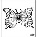 Раскраски с животными - Бабочка 4