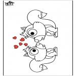 Раскраски с животными - Белка 2
