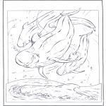 Раскраски с животными - Белый дельфин