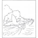 Детские раскраски - Белый медвежонок Ларс 10