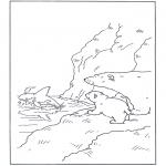 Детские раскраски - Белый медвежонок Ларс 11