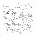 Детские раскраски - Белый медвежонок Ларс 3