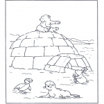 Детские раскраски - Белый медвежонок Ларс 5