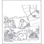 Детские раскраски - Белый медвежонок Ларс 9