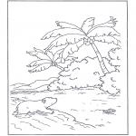 Детские раскраски - Белый медвежонок Ларс7