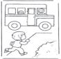 Бежим к школьному автобусу