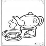 Детские раскраски - Чашка чая