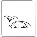 Раскраски с животными - Чайка на воде