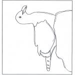 Раскраски с животными - Чайки на камнях