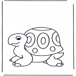 Раскраски с животными - Черепаха