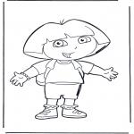 Детские раскраски - Даша-следопыт 1