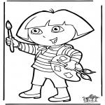 Детские раскраски - Даша-следопыт 10