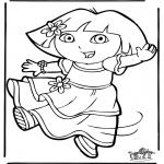 Детские раскраски - Даша-следопыт 11
