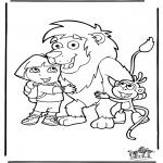 Детские раскраски - Даша-следопыт 2