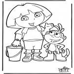 Детские раскраски - Даша-следопыт 4