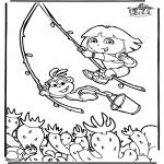 Детские раскраски - Даша-следопыт 6