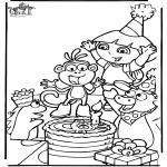 Детские раскраски - Даша-следопыт 7