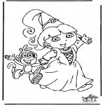 Детские раскраски - Даша-следопыт 8