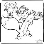 Детские раскраски - Даша-следопыт 9