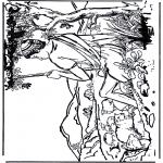 Раскраски по Библии - Давид 1