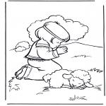 Раскраски по Библии - Давид 2