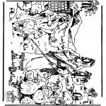 Раскраски по Библии - Давид 3