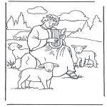 Раскраски по Библии - Давид-пастух