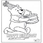 Темы - день рождения - раскраска