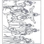 Раскраски по Библии - День Святой Троицы 1