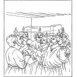 Раскраски по Библии - День Святой Троицы 2