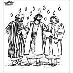 Раскраски по Библии - День Святой Троицы 3