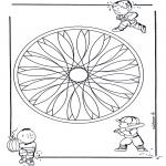 Мандалы -  детская геомандала 2