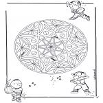 Мандалы -  детская геомандала 3