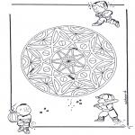 Мандалы - детская геомандала