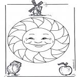 Мандалы - детская мандала 15
