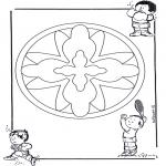 Мандалы - детская мандала 16