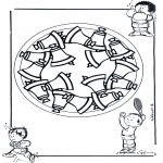 Мандалы - детская мандала 17