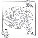 Мандалы - детская мандала 18