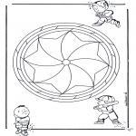 Мандалы - детская мандала 19