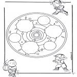 Мандалы - детская мандала 24