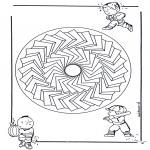 Мандалы - детская мандала 27