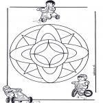 Мандалы - детская мандала 7